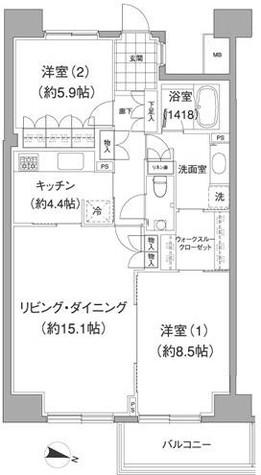 アビティ目黒 / 511 部屋画像1
