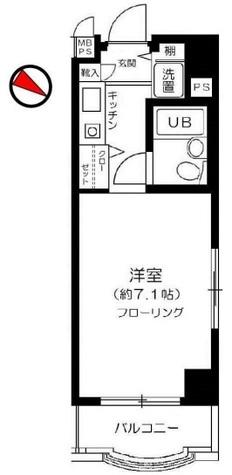 パーク・ノヴァ横浜参番館 / 512 部屋画像1