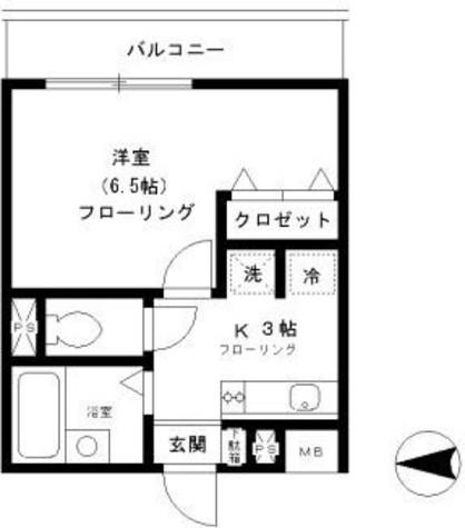 ファインクレスト笹塚 / 4階 部屋画像1