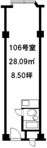 バルミー赤坂 / 106 部屋画像1