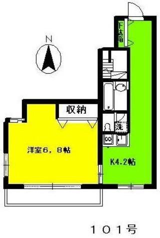 恵比寿 2分マンション / 1階 部屋画像1