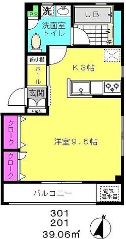 ソルージュ下目黒 / 201 部屋画像1