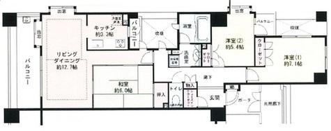 THEパームス本郷龍岡 / 2階 部屋画像1
