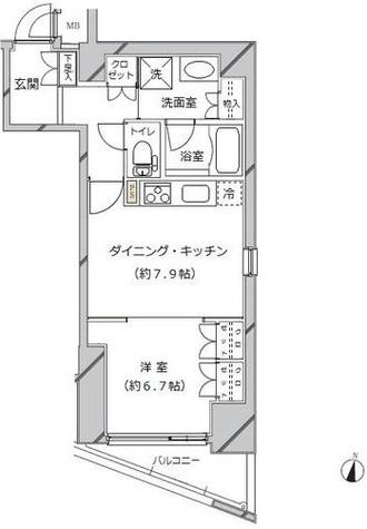 ライジングプレイス秋葉原 / 10階 部屋画像1