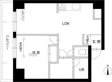 エルスタンザ南品川 / 4階 部屋画像1