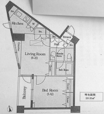 マートルコート恵比寿南2 / 4階 部屋画像1