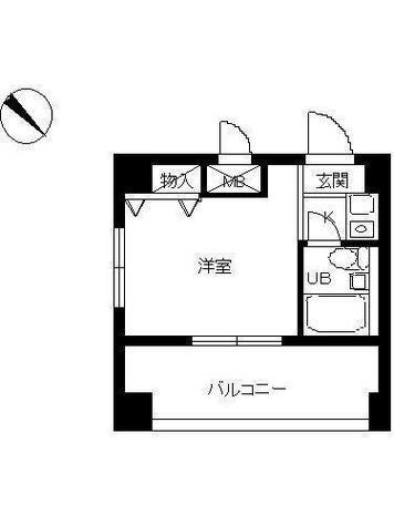 スカイコート横浜平沼 / 606 部屋画像1