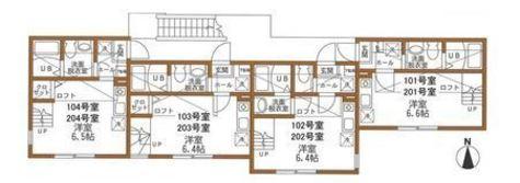 ハーミットクラブハウスパール / 2階 部屋画像1