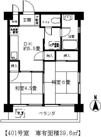 四谷スカイコーポ / 401 部屋画像1