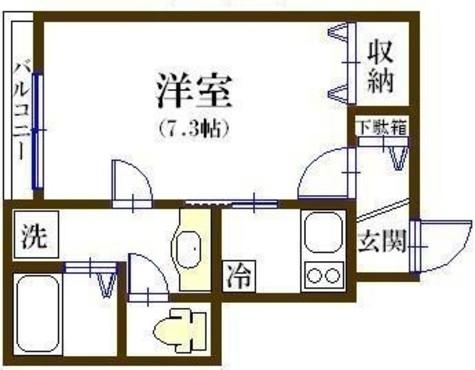 カーサ・フィオーレ / 1階 部屋画像1