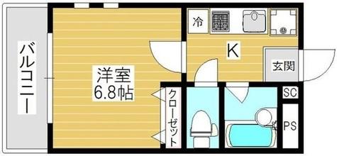 チェリーコート笹塚 / 401 部屋画像1