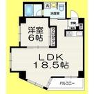 LDK18.5帖 角部屋2面窓