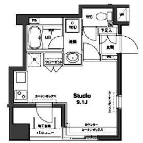 コンフォリア銀座EAST / 1404 部屋画像1