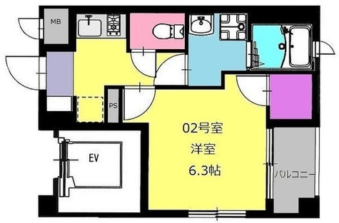 b'CASA Nakase(ビーカーサ中瀬) / 5階 部屋画像1