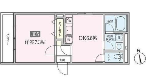 プランドール横浜 / 305 部屋画像1