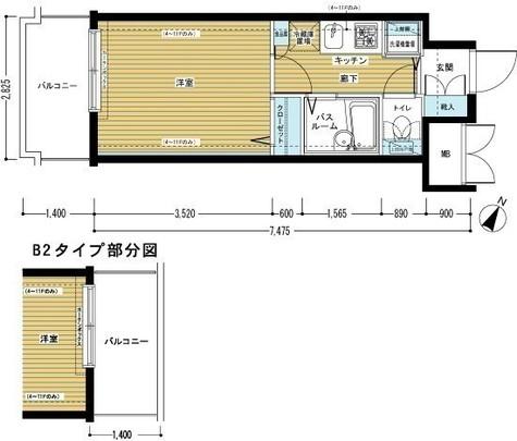 トーシンフェニックス田町 / 7階 部屋画像1