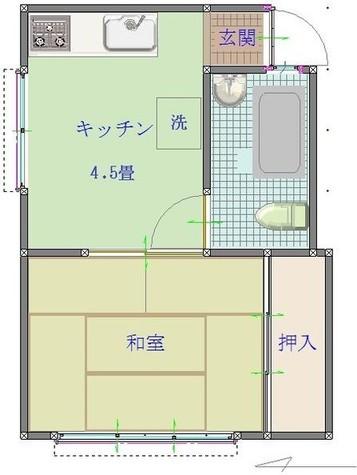 赤羽橋 5分マンション / 2階 部屋画像1