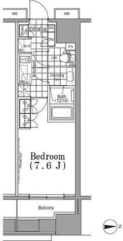 ザ・パークハビオ蔵前 / 2階 部屋画像1