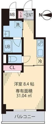 渋谷区笹塚1丁目新築貸マンション 201505 / 4階 部屋画像1