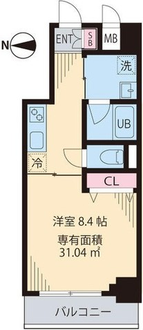 渋谷区笹塚1丁目新築貸マンション 201505 / 7階 部屋画像1