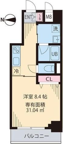 渋谷区笹塚1丁目新築貸マンション 201505 / 8階 部屋画像1