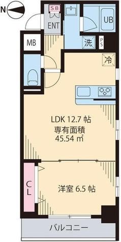 渋谷区笹塚1丁目新築貸マンション 201505 / 401 部屋画像1