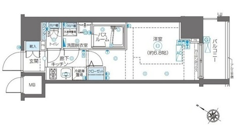 ZOOM川崎Second / 504 部屋画像1