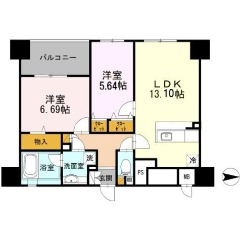 コリドール山手 / 2階 部屋画像1