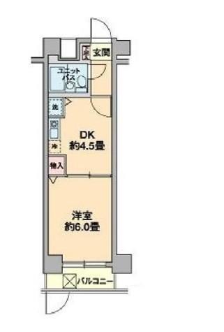 カスタリア新宿7丁目 / 2階 部屋画像1