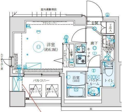 クレイシア西横浜 / 203 部屋画像1