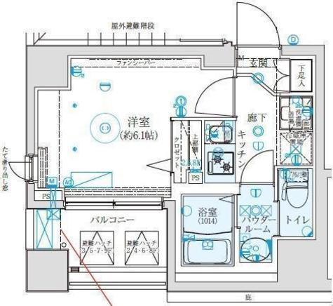 クレイシア西横浜 / 603 部屋画像1
