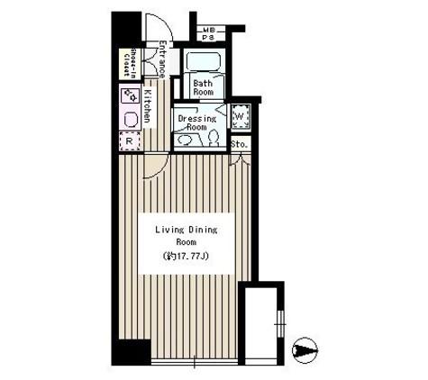 半蔵門 2分マンション / 3階 部屋画像1