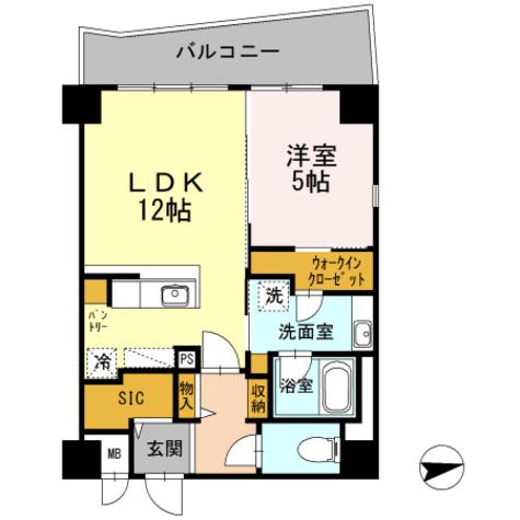 CP HOMES / 5階 部屋画像1