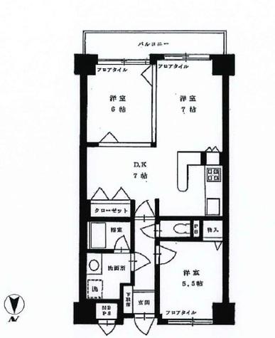 朝日広尾マンション / 11階 部屋画像1