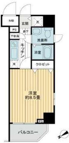 ガーラ・ステーション新宿御苑前 / 10階 部屋画像1