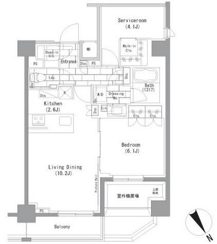 ザ・パークハビオ横浜山手 / 7階 部屋画像1