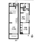 図面左102号室、真ん中103号室、右104号室です。