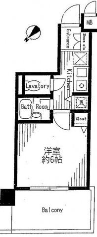 アヴァンツァーレ新宿ピアチェーレ / 2階 部屋画像1