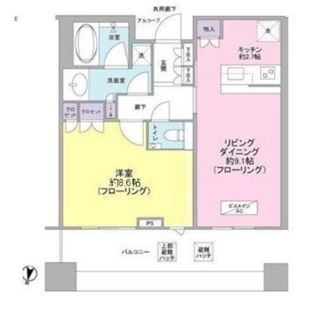 テラス渋谷美竹 / 9階 部屋画像1