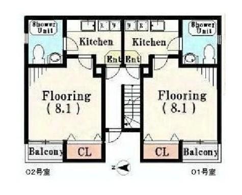Aレガート吉野町Ⅱ / 3階 部屋画像1