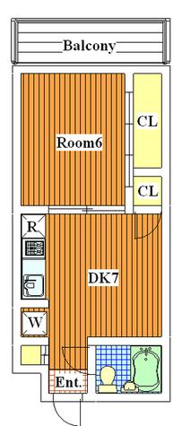 サンクレストT / 202 部屋画像1