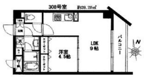 ボヌール都立大学弐番館 / 2階 部屋画像1