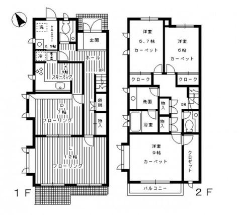 ヴェルドミール深沢A、B、C / E2 部屋画像1