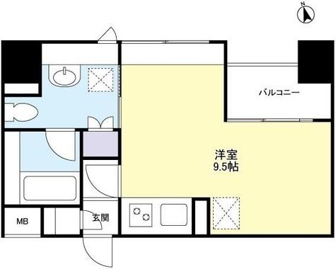 スペーシア新宿 / 9階 部屋画像1