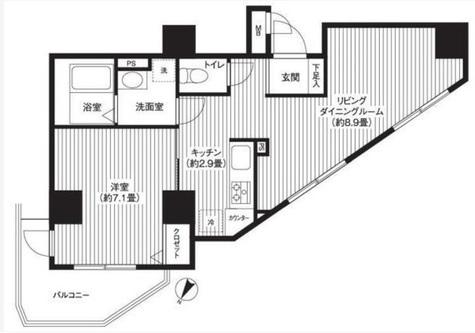 渋谷区本町マンション / 1205 部屋画像1