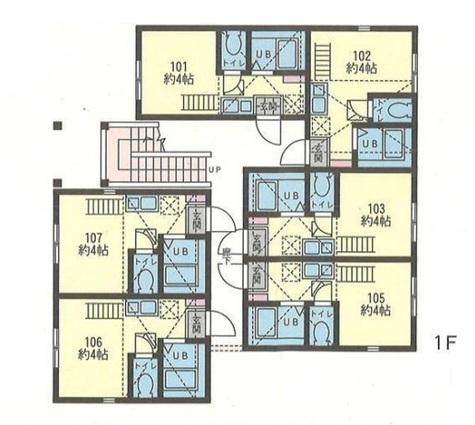 ヒルズ反町A棟・B棟 / 1階 部屋画像1