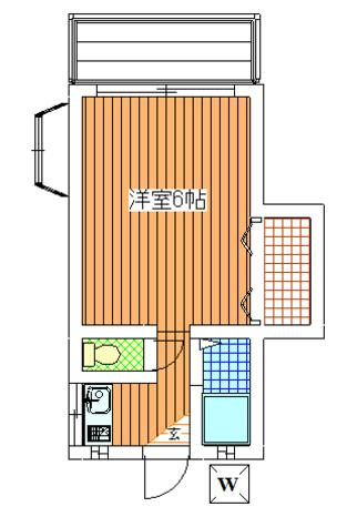 好日荘 / 201 部屋画像1