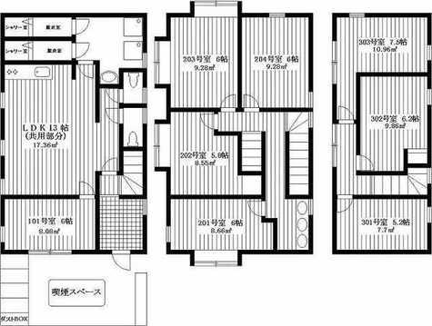 Funny House Oyamadai / 201 部屋画像1