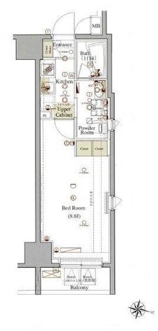 ヴォーガコルテ板橋本町アジールコート / 2階 部屋画像1