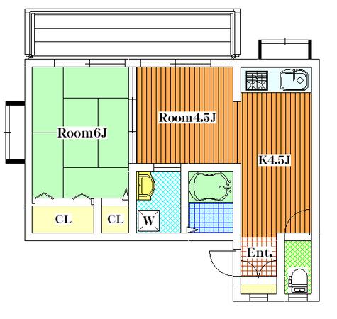 Kハウス / 2F 部屋画像1